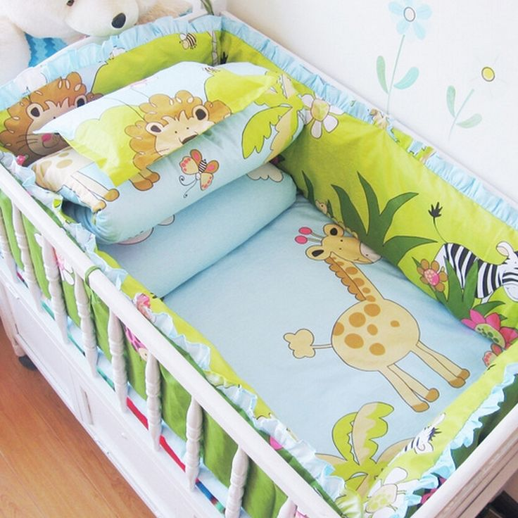 41.00$  Buy now - http://aliqwg.worldwells.pw/go.php?t=32780721696 - Comfortable Baby Bed Set,Animal Baby Bedding Stripes,Breathable Newborn Bedding Sets,Child Crib Bedding Set for Baby Cot Bumper
