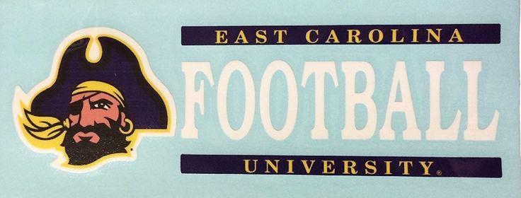 ECU Football Vinyl Decal