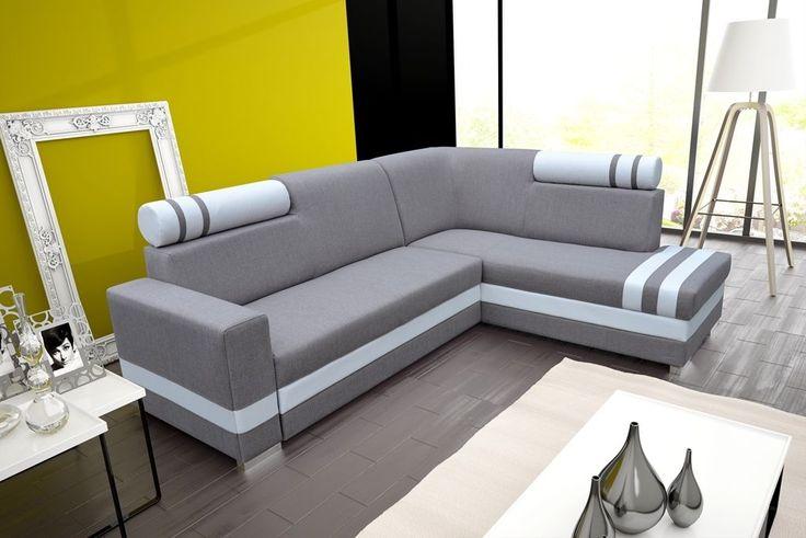 Das #Ecksofa erfreut sich der großen Qualität. Es eignet sich zum Entspannen und Zeiverbringen zusammen mit Familie.  Maße: Breite: 254 cm Tiefe: 193 cm Höhe: 91 cm Schlaffläche: 200 cm x 125 cm  #Sofa #Wohnlandschaft #Wohnzimmer