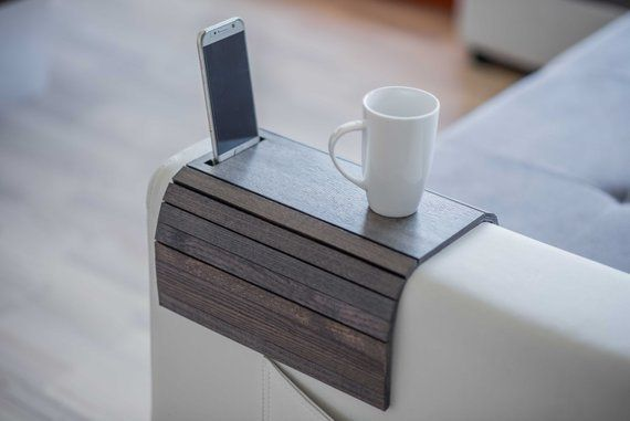 Sofa Arm Table Sofa Tray Table Sofa Arm Tray Couch Wrap Couch Etsy Sofa Arm Table Wood Sofa Couch Arm Table