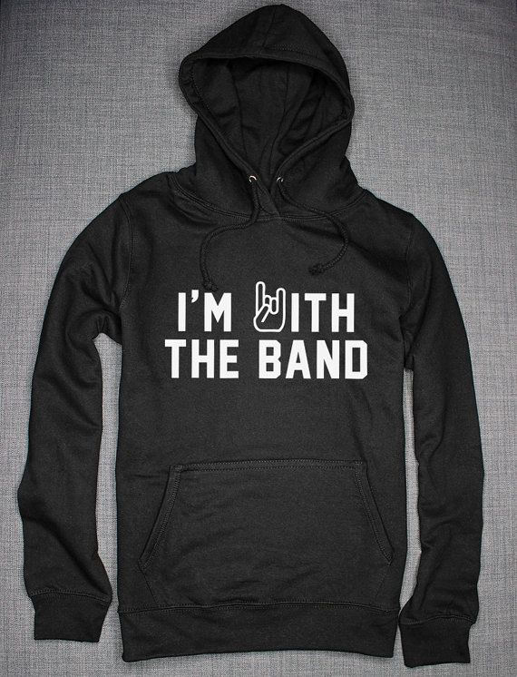 I'm With The Band Hoodie by ResilienceStreetwear on Etsy