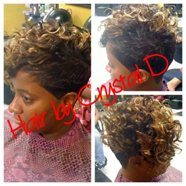 Quick Weave Mohawk With Curly Hair