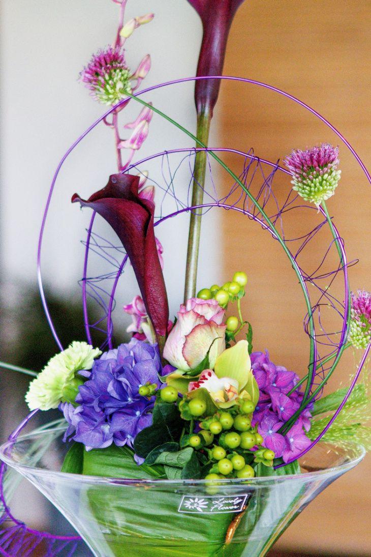 Maison de la fleur macht fantstische Tischgestecke - auch in einer modernen Variante.