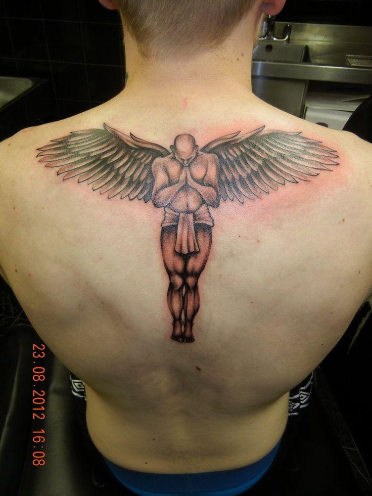 guardian angel tattoo by geritattoo on deviantart tattoo pinterest tattoos f r m nner. Black Bedroom Furniture Sets. Home Design Ideas