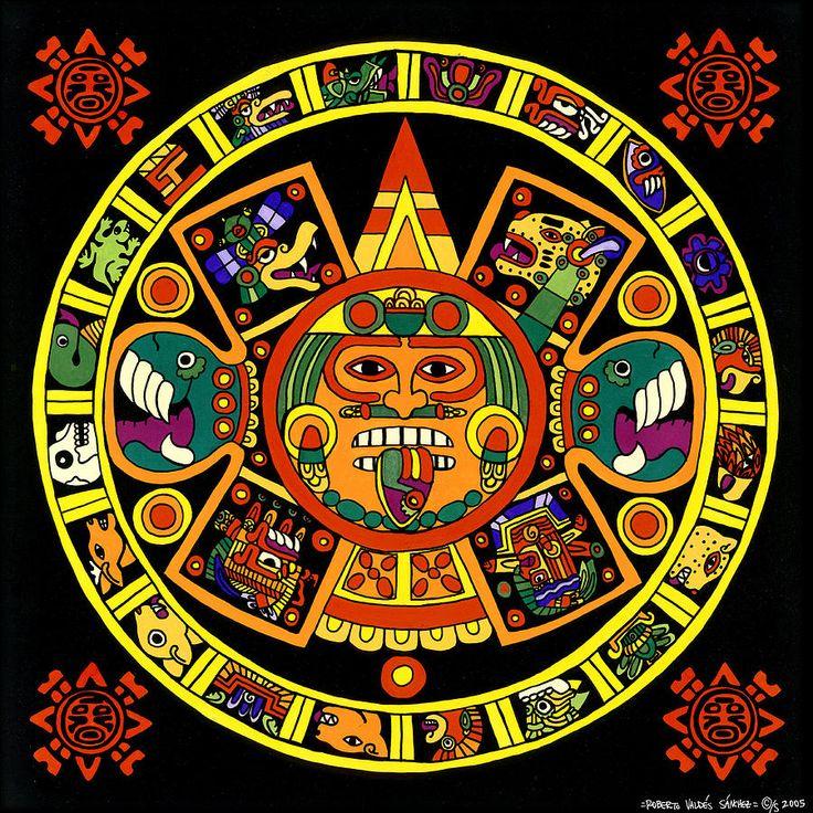 Mandala Azteca Painting  - Mandala Azteca Fine Art Print