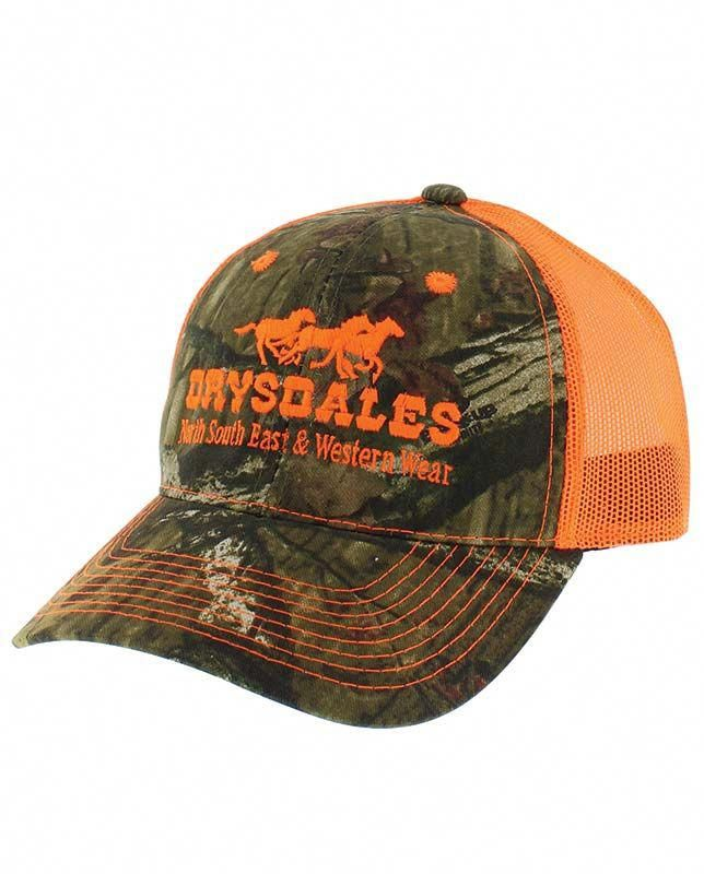 9669436f88af5 Drysdales Camo and Orange Blaze Mesh-Back Cap - Hats - Men s
