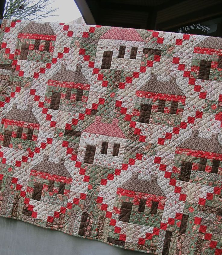 """Quilt pattern designed by 3 Sisters. This sample uses the Moda fabric line called """"Grace."""""""