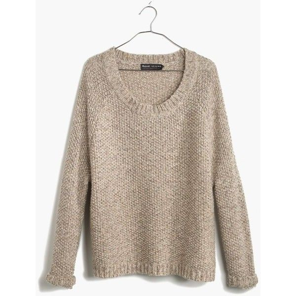 Madewell et Sézane® Haspen Sweater ($100) ❤ liked on Polyvore featuring tops, sweaters, marled boulder, madewell, drapey top, slouch sweater, marled sweater and sweater pullover