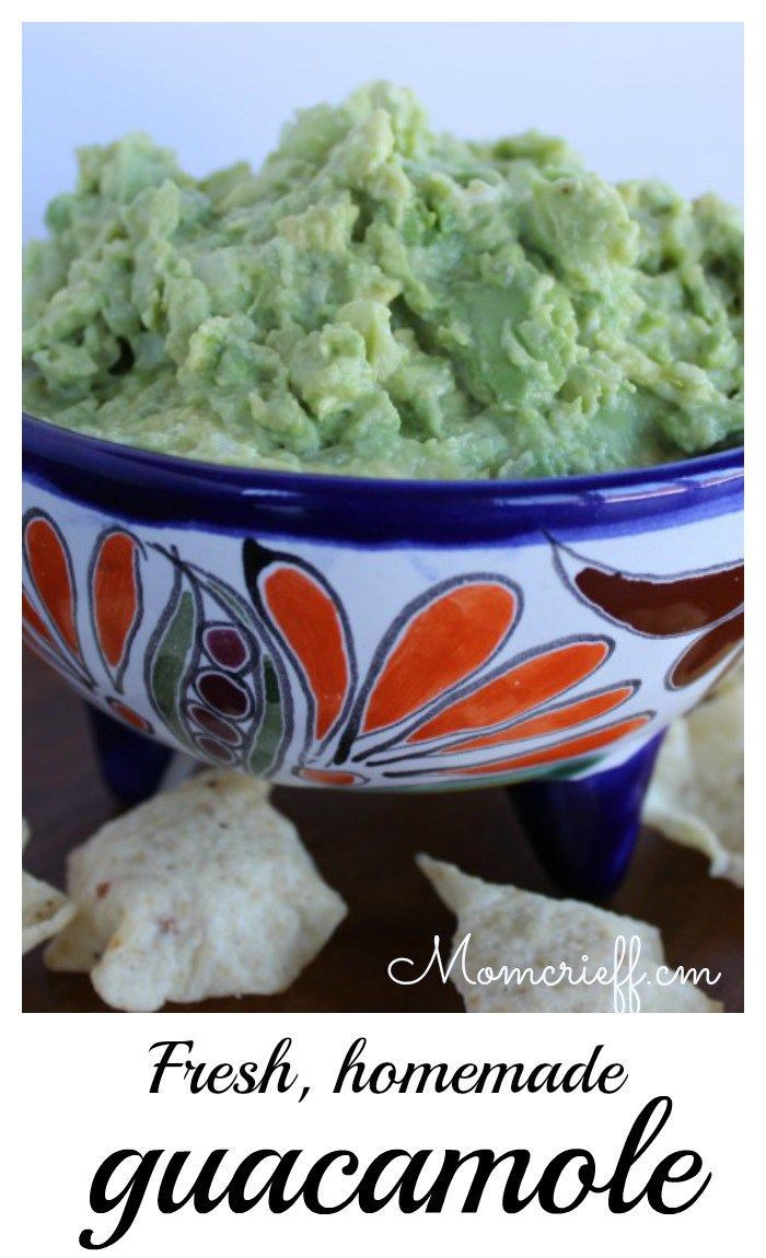 Guacamole - easy from scratch recipe! - Momcrieff