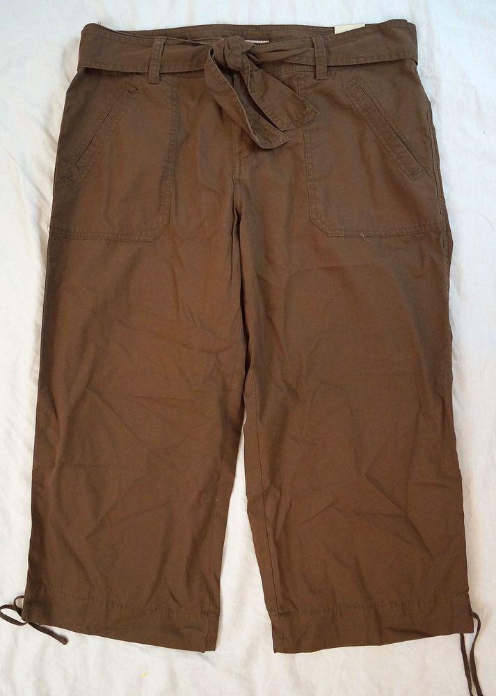 Luxury MNG By Mango Womens Size 10 Brown Slim Leg Khaki Pants Great Condition