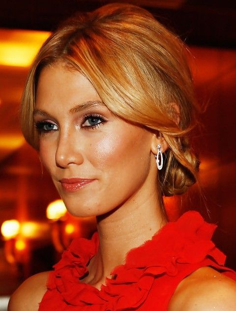 Delta Goodrem Hairstyles: Graceful Braided Bun