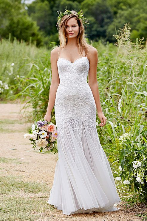 Romantic lace wedding dress by Love Marley, Spring 2015