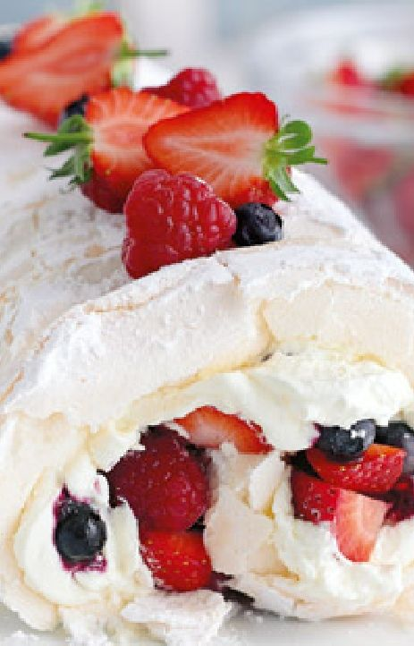 Low FODMAP and Gluten Free Recipe - Strawberry roulade