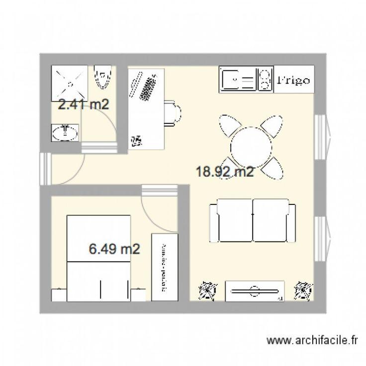 r sultat de recherche d 39 images pour plan studio 30m2 plans maisons appart. Black Bedroom Furniture Sets. Home Design Ideas