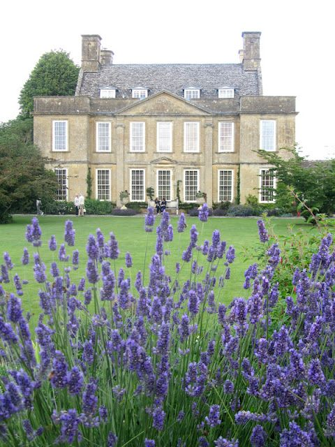 Bourton house, with a layer of lavender