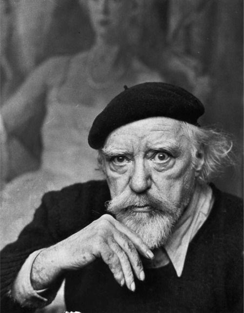 artist Augustus John, London, 1951, photographer Alfred Eisenstaed