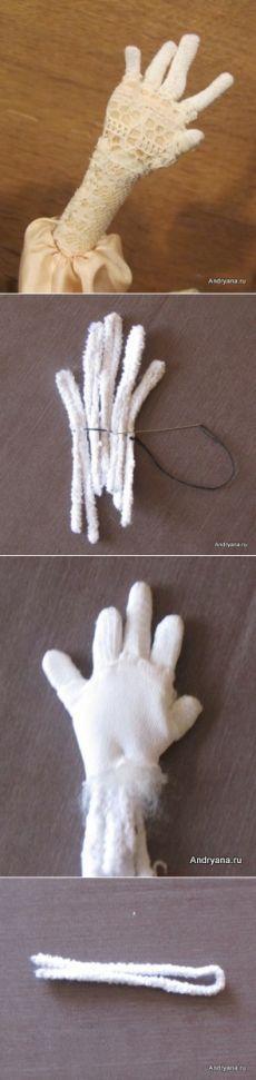 Куклы Метелкиной Наталии МК по изготовлению кукольной ручки