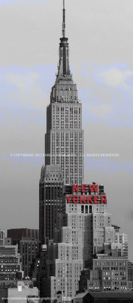 Empire State Building and The Famous New Yorker!  Visit: www.emiliaheiskanenphotography.com for more images of NYC