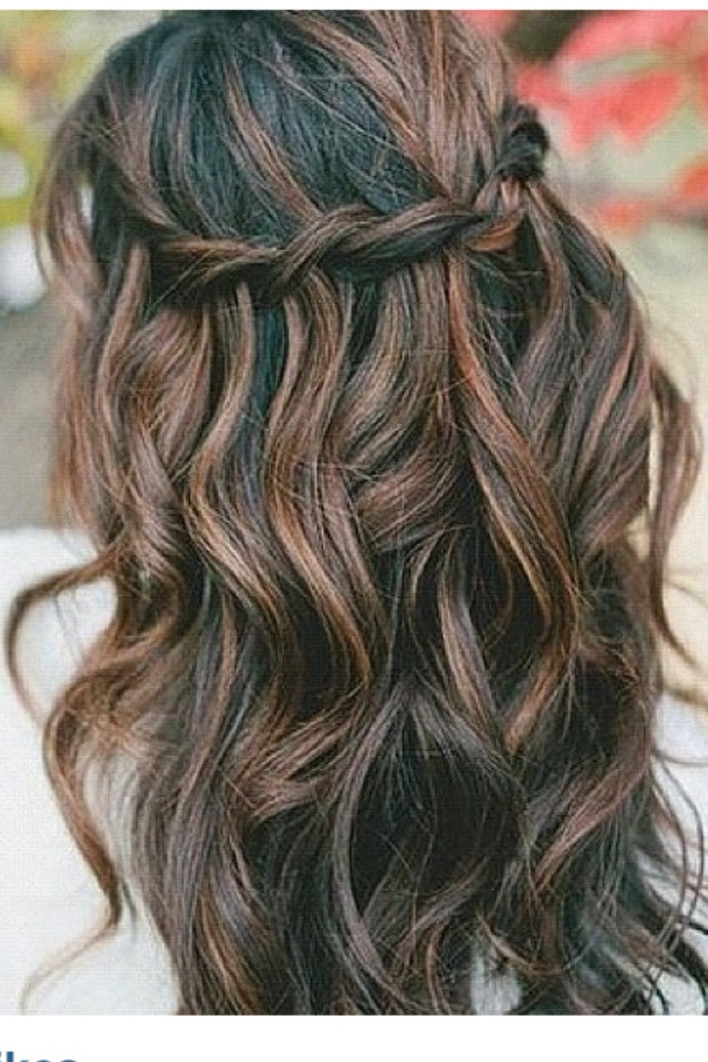 brown highlights in hair idea. Maybe not as light brown as these.
