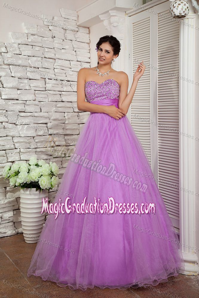 Sweetheart Lavender A-line Beading Graduation Dress in Albany New York