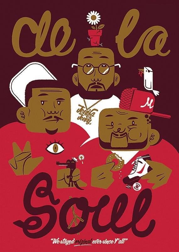 De La Soul Poster by LeighPearce on Etsy, £40.00