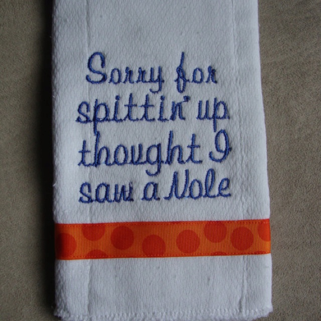 Florida Gator burp cloth