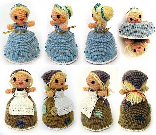 Magic Cinderella Crochet Amigurumi | Free Pattern for Transformable Doll