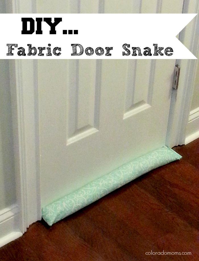 Diy fabric door snake for fighting the frost crafts diy for Front door draft stopper