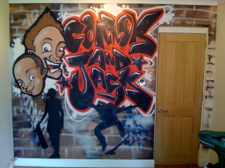 Best Kids Bedroom Graffiti Images On Pinterest Kids Bedroom - Bedroom graffiti art for kids