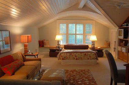 Bonus Room Over Garage Ideas | love the ceiling. Extra bedroom suite.