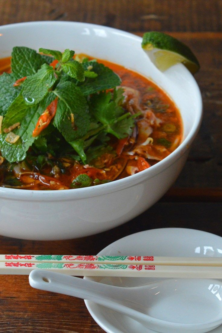 This authentic recipe for Bún bò Huế (spicy Vietnamese soup) is easy to follow and is well the time for the deeply satisfying finished soup.