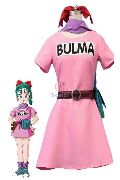 Dragon Ball Z Bulma Anime Cosplay Costumes