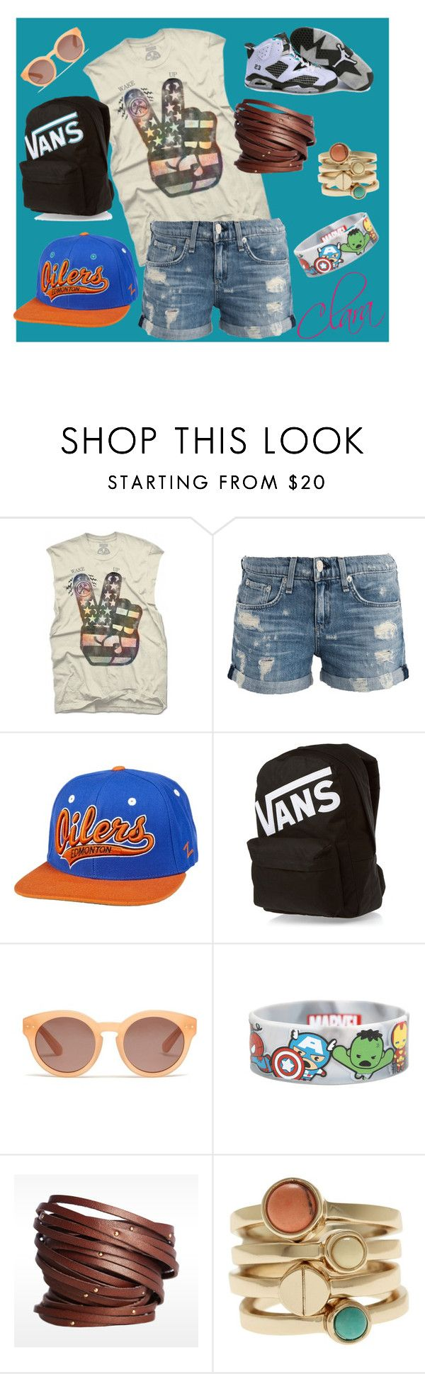 Casual by clarairawan on Polyvore featuring rag & bone/JEAN, Vans, Linea Pelle, Armani Exchange, Madewell and Retrò