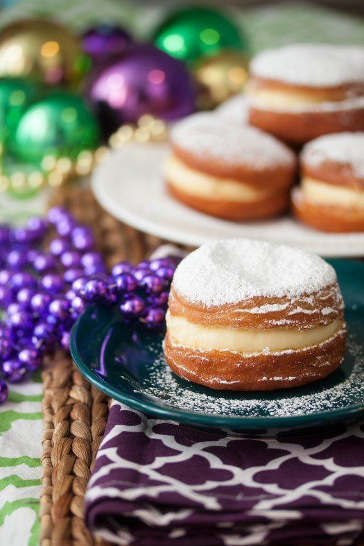 Paczki.  Delicious Polish Doughnuts recipe.  Yummy fried dough with custard or fruit filling.  Traditionally made at the beginning of Lent