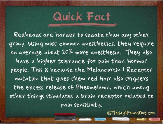 Redhead fact