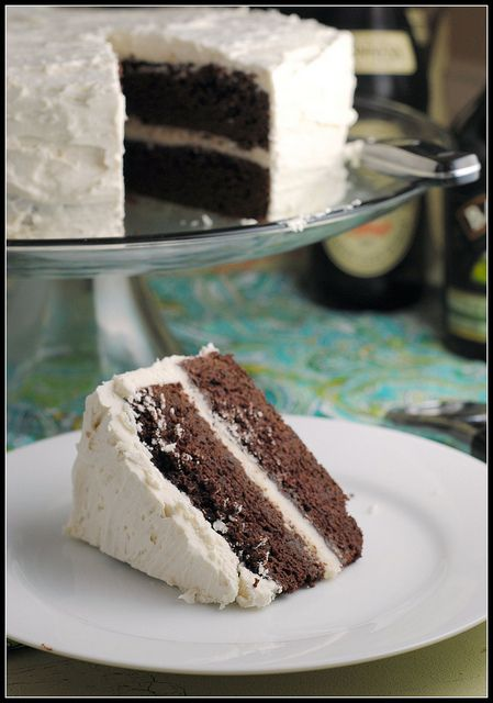 Dark Chocolate Guinness Cake with Bailey's butter cream frosting ...