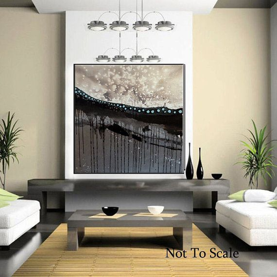 Large Mixed Media Abstract Contemporary Painting by MAUSART