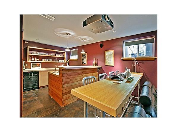 #basement #media #room #projector #bar
