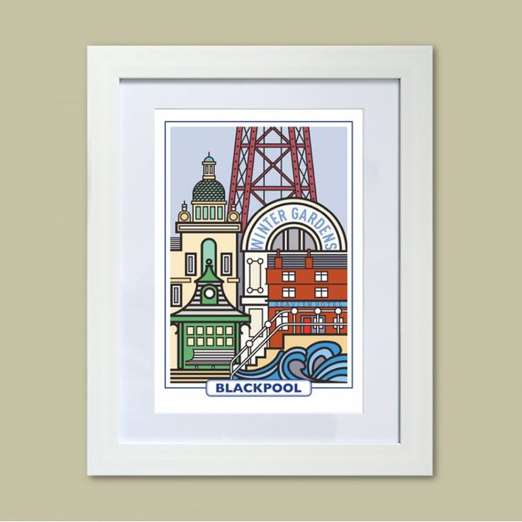 features of blackpool a high quality print reproduction of an original painting from the seaside amager bryghus lighting set
