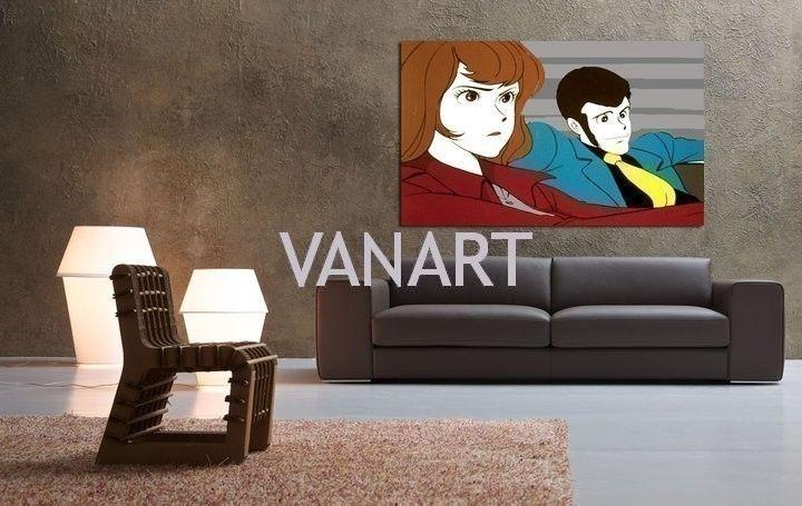 Quadri moderni dedicati a Lupin dipinti a mano moderni esclusivi. Tante tele che puoi appendere anche senza cornice, dipinti da Vanessa Simone.