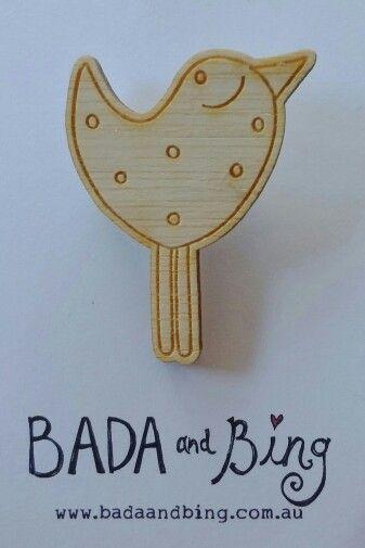 Bing brooch. Www.madeit.com.au/badaandbing