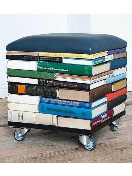 Upcycling Ideas: The Books Stool …