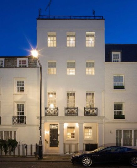This property in Mayfair sits on a traffic-free road not far from Hyde park. The current owners have submitted a planning application to turn its 520 square foot roof into a terrace, where you can soak up the sun in summer.  Guide Price: 12.5 Million