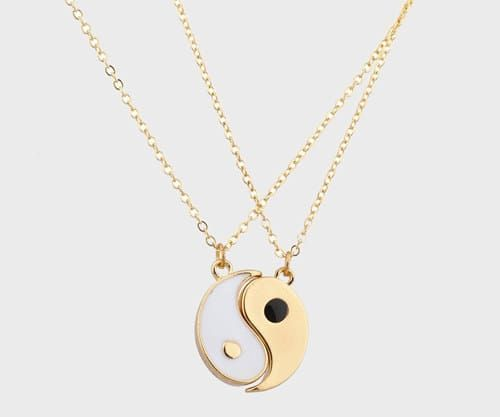 A yin and yang necklace set, so there'll be no question who your person is.