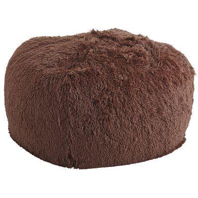 Shaggy Bean Bag - Chocolate
