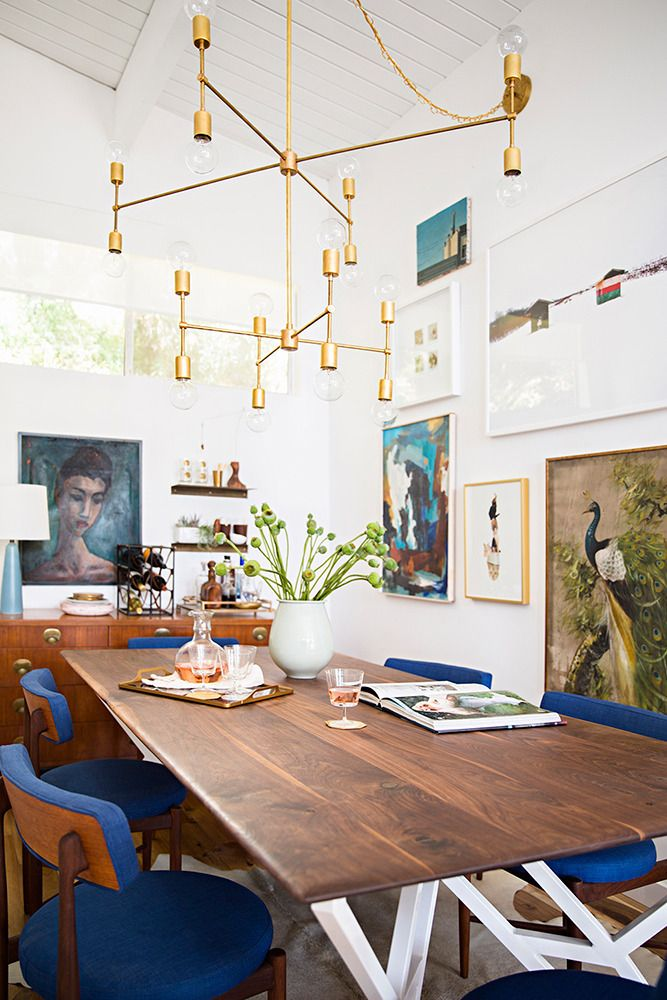 At Home With Emily Henderson The Chandelier Tables And