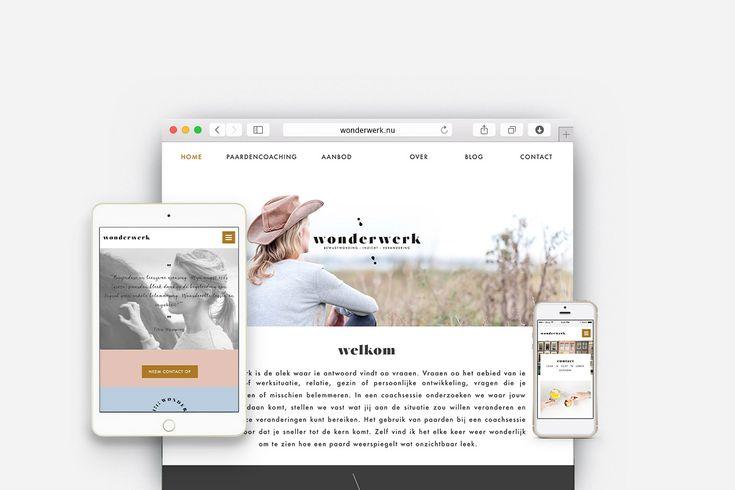 minimalistisch custom webdesign wordpress | OCHER  #clean #soft #webdesign #branding