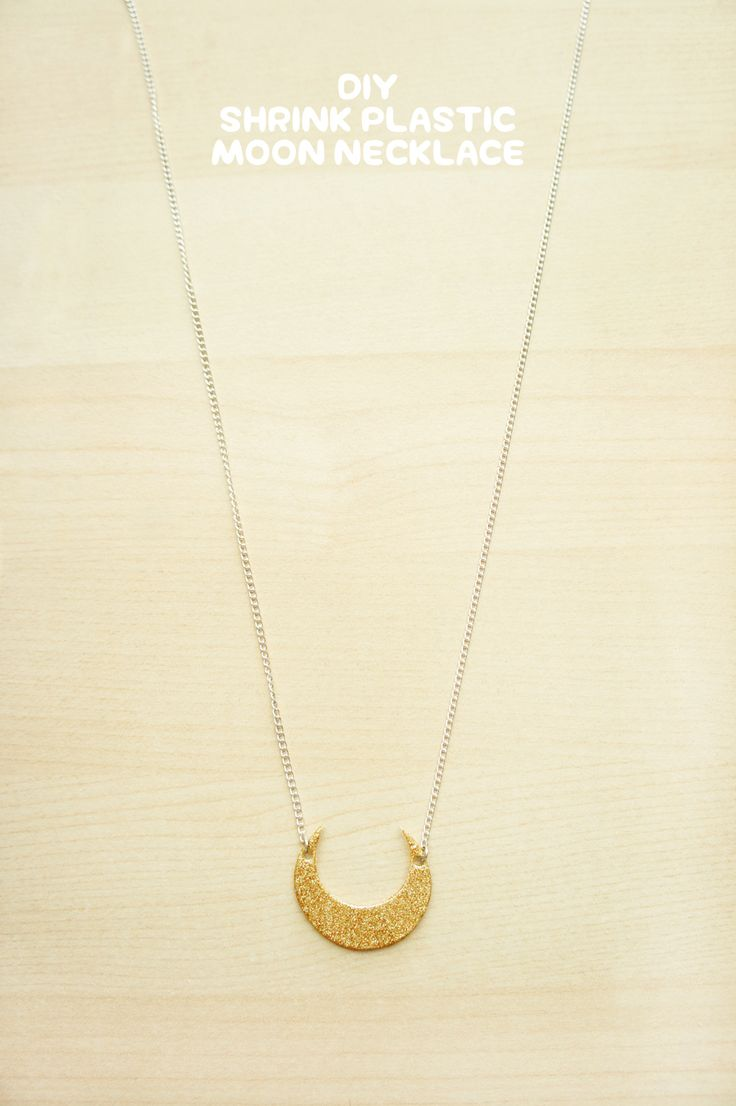 DIY • Shrink Plastic Moon Necklace