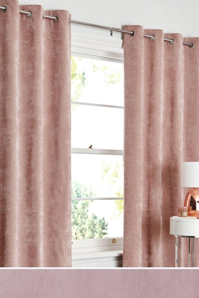 Next Soft Velour Eyelet Lined Curtains
