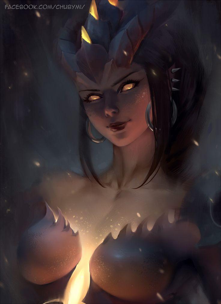 Dragon Symmetra Overwatch Halloween Skin, Chuby Mi on ArtStation at https://www.artstation.com/artwork/oY9dk